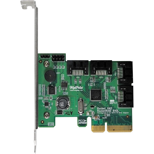 HighPoint Rocket 640L 4-Port SATA 6 Gbps PCIe 2.0 x4 Host Bus Adapter