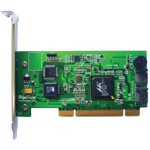 HighPoint RocketRAID 1720 2 Internal PCI SATA II RAID Controller