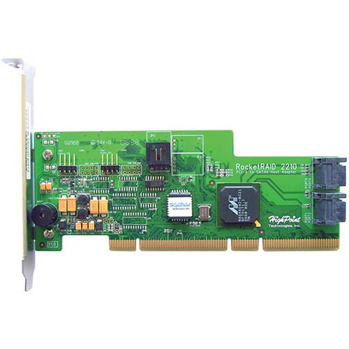 HighPoint RocketRAID 2210 4-Channel PCI-X SATA II RAID Controller