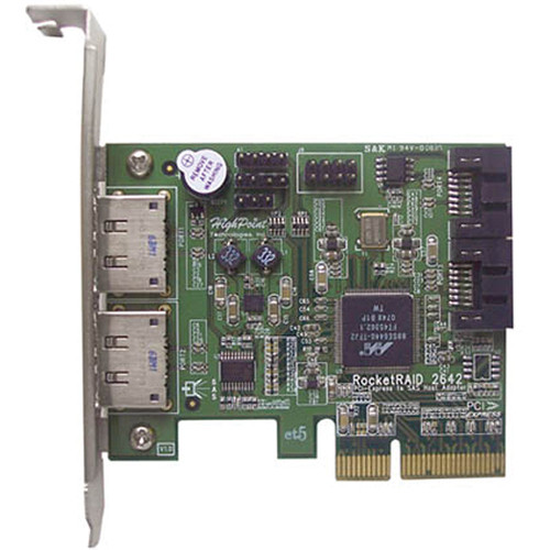 HighPoint RocketRAID 2642 4-Channel PCI Express x4 SAS RAID Controller