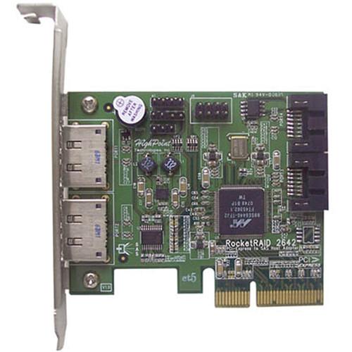 HighPoint RocketRAID 2642 4-Channel PCI Express x4 SAS RAID Controller