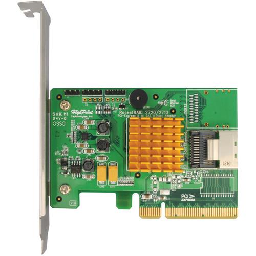 HighPoint RocketRAID 2710 Single-Port 4 Channel SAS 6 Gbps PCIe 2.0 x8 RAID HBA