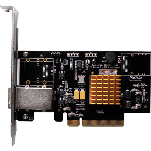 HighPoint RocketRAID 2711 Single-Port 4 Channel SAS 6 Gbps PCIe 2.0 x8 RAID HBA