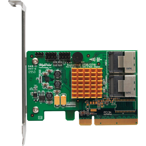 HighPoint RocketRAID 2720SGL PCI-Express 2.0 6Gbps SAS RAID Controller Card Interface