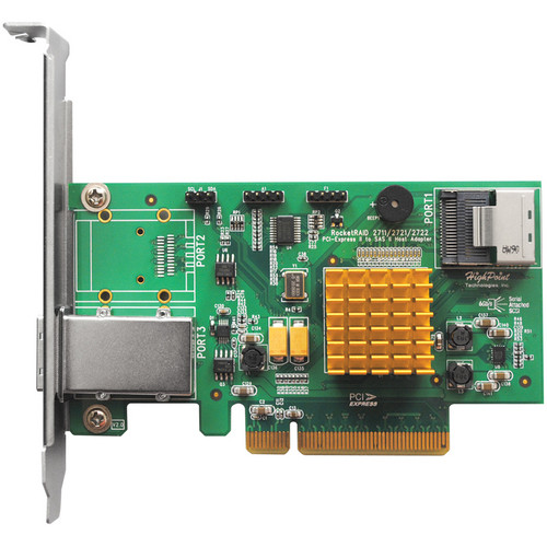HighPoint RocketRAID 2721 8-Port Hybrid SAS 6 Gbps PCI Express 2.0 x8 RAID HBA