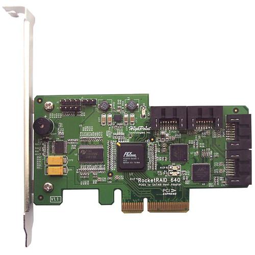 HighPoint RocketRAID 640 4-Port SATA 6Gb/s PCI-E 2.0 x4 RAID HBA