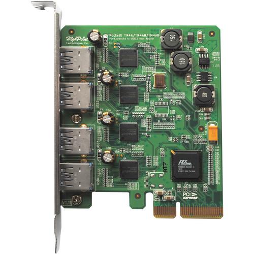 HighPoint RocketU 1144AM PCI-E 2.0 x4 Quad-Port USB 3.0 RAID for Mac