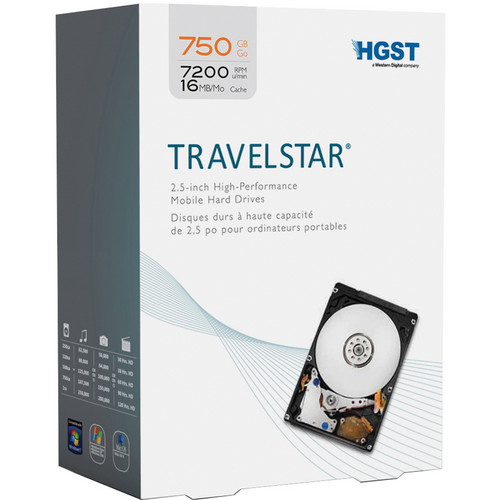 "HGST 750GB Travelstar 2.5"" Internal Hard Drive"