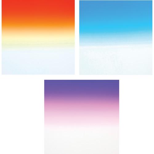 Formatt Hitech Color Grad Camera Filter Kit 1- Sunset/ Blue/ Twilight 2- 85 x 110mm