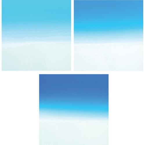 Formatt Hitech Color Graduated Camera Filter Kit 3 - Blue 1/ 2/ 3 - (85 x 110mm)
