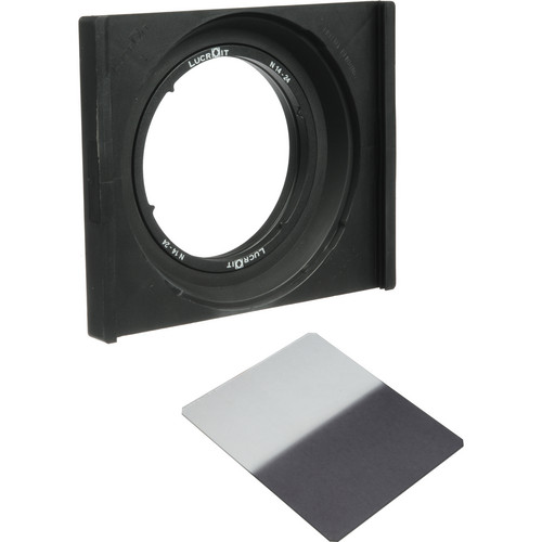 Formatt Hitech Lucroit 165mm Filter Holder with Adapter for Nikon 14-24mm Lens and Grad ND 0.6 Hard Edge Filter Kit