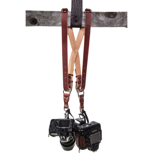 HoldFast Gear Money Maker Two-Camera Harness (English Bridle, Chestnut, Regular)
