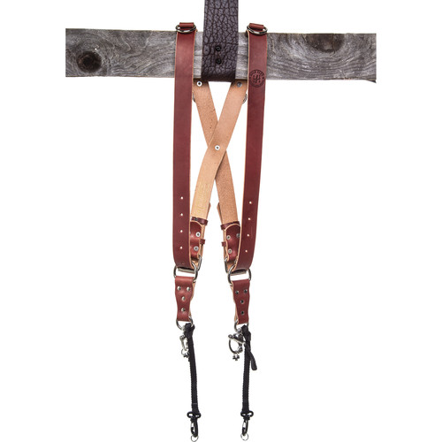 HoldFast Gear Money Maker Two-Camera Harness with Silver Hardware (English Bridle, Chestnut, Large)