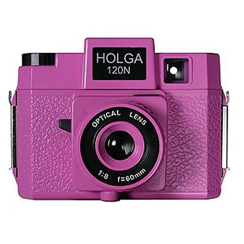Holga 178-120  Holgawood 120N Medium Format Camera (Pretty in Pink)