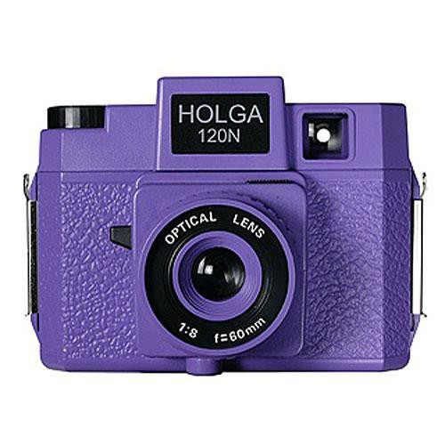 Holga 183-120  Holgawood 120N Medium Format Camera (Violet)
