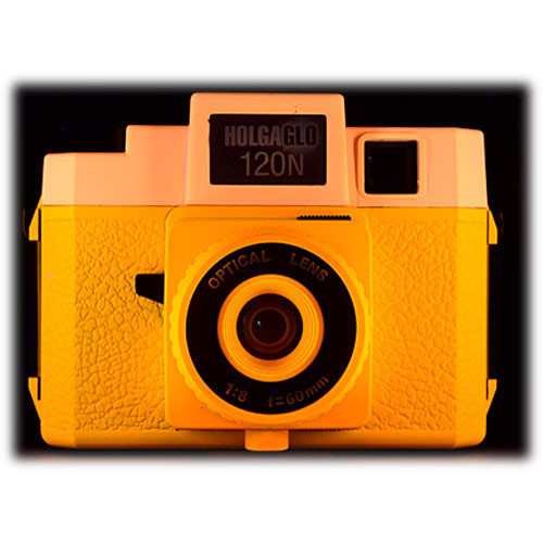 Holga Holga Glo 120N Plastic Medium Format Camera (Orange Burst)