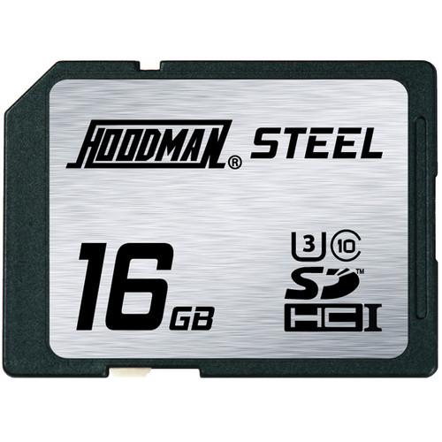 Hoodman 16GB SDHC Memory Card RAW STEEL Class 10 UHS-1