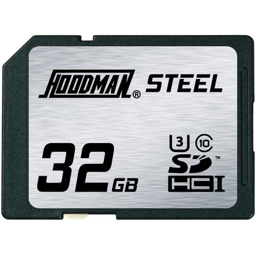 Hoodman 32GB SDHC Memory Card RAW STEEL Class 10 UHS-1