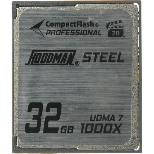 Hoodman 32GB CompactFlash Memory Card Professional STEEL 1000x UDMA