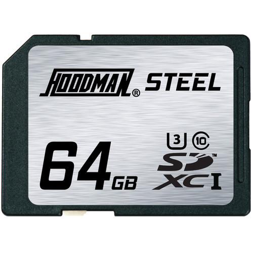 Hoodman 64GB SDXC Memory Card RAW STEEL Class 10 UHS-1