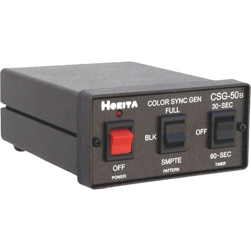 Horita CSG-50B Color Bar / Sync / Audio Tone Generator Timer, Full Field or SMPTE Color Bars, Multi Output Blackburst and Subcarrier