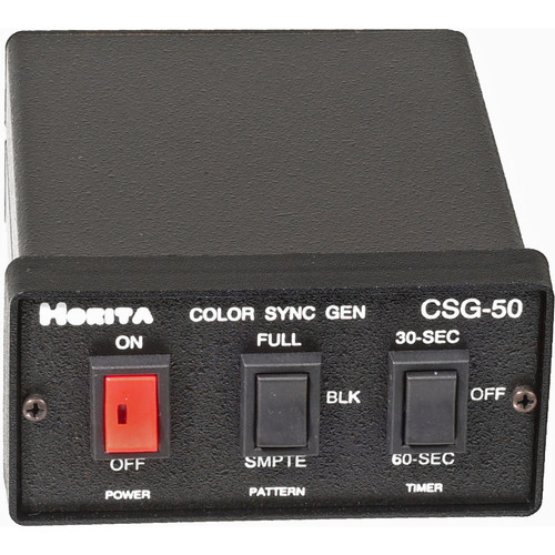 Horita CSG-50 Color Bar / Black Burst / Sync / Audio Tone Generator, Timer, Full Field or SMPTE Color Bars, NTSC