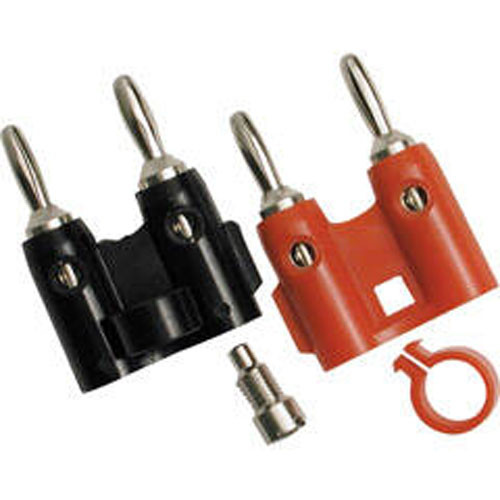 Hosa Technology BNA-240 - Heavy Duty Banana Connectors for 12 Gauge Speaker Wire (1 Red, 1 Black)