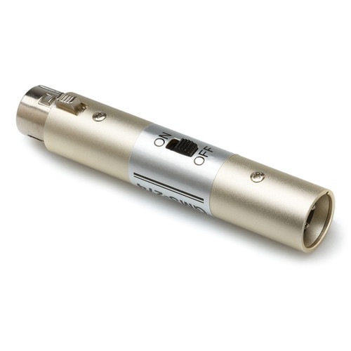 Hosa Technology GMS-274 - In-Line XLR Barrel Microphone On/Off Switch