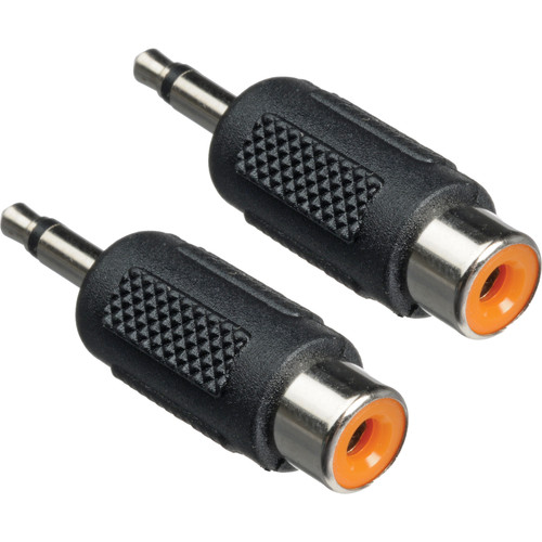 "Hosa Technology RCA Female to 1/8"" Mini-Phone Male Adapter - Pair"