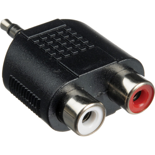 Hosa Technology GRM193 Stereo Mini to 2 RCA Adapter