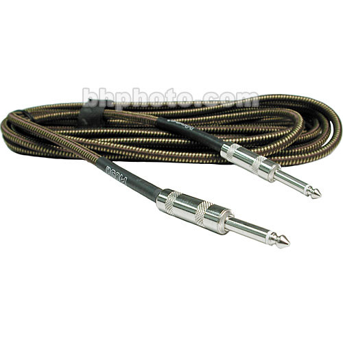 "Hosa Technology Tweed 1/4"" Male to 1/4"" Male Guitar Cable - 18'"