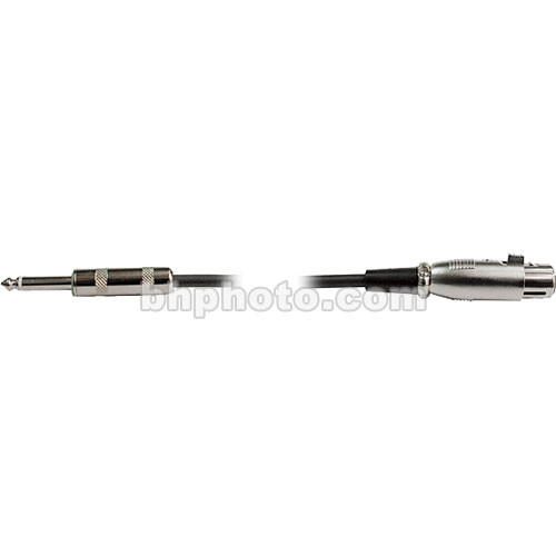 """Hosa Technology 1/4"""" Male to 3-Pin XLR Female Hi-Z Microphone Cable - 10'"""