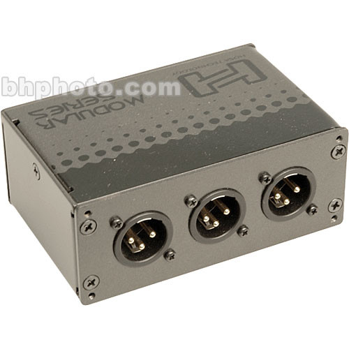 Hosa Technology MXL-369 Patch Module - 3 Point Straight Through Patchbay with Balanced XLR Connectors