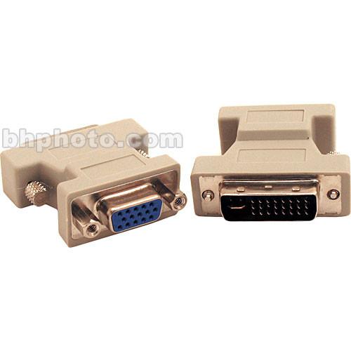Hosa Technology Computer Video DVI-I Male to VGA 15-Pin Female Monitor Adapter