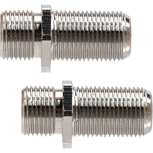 Hosa Technology Coaxial Video Cable RF Female to RF Female Adapter - 2 Pack
