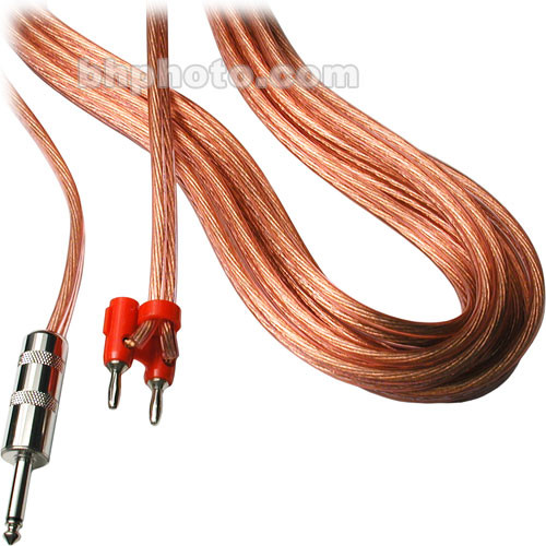 """Hosa Technology SKM-200 Series Banana to 1/4"""" TS Male Speaker Cable - 3' (Clear)"""