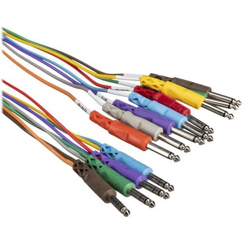 "Hosa Technology STP802 Four TRS 1/4"" Male to Eight TS 1/4"" Male Snake - 6.5'"