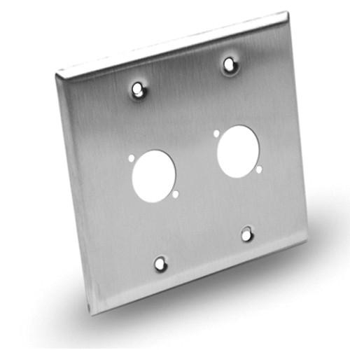 Hosa Technology Dual-Gang Wall Plate Panel - 2 Hole