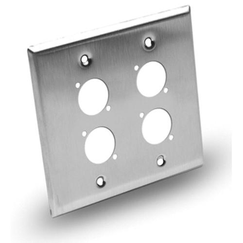 Hosa Technology Dual-Gang Wall Plate Panel - 4 Hole