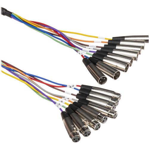 Hosa Technology XLR805 8-Channel Male 3-Pin XLR to Female 3-Pin XLR Snake Cable - 16.5' (5 m)