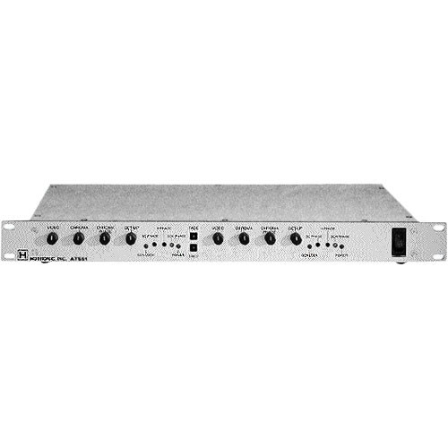 Hotronic ATS-512S Dual Channel Time Base Corrector / Frame Synchronizer, Proc-Amp - Digital Comb Filter, Composite Input, Composite Output, Genlock, Rackmountable