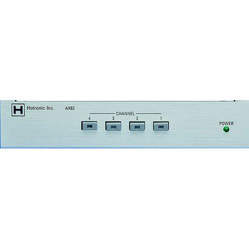 Hotronic AX-83Q 4x1 Video Router / Quad Processor - Composite Video, Switcher and Quad Output