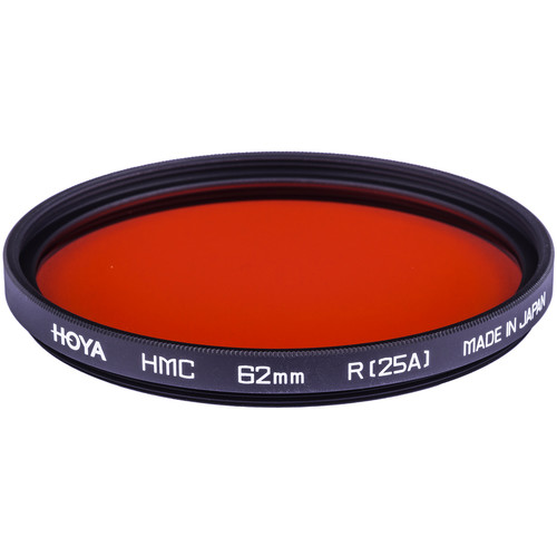 Hoya 62mm Red #25A (HMC) Multi-Coated Glass Filter for Black & White Film