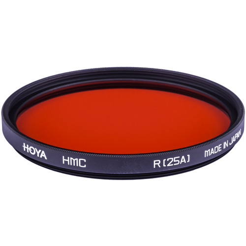 Hoya 49mm Red #25A (HMC) Multi-Coated Glass Filter for Black & White Film