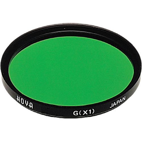 Hoya 62mm Green X1 (HMC) Multi-Coated Glass Filter for Black & White Film