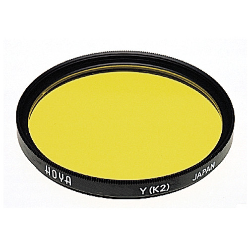 Hoya 62mm Yellow #K2 (HMC) Multi-Coated Glass Filter for Black & White Film