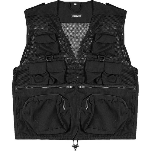 Humvee by CampCo Combat Photo Vest, Medium (Black)