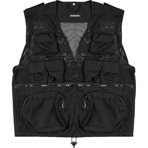 Humvee by CampCo Combat Photo Vest, Medium (Black)