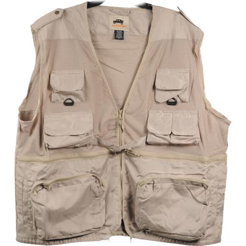 Humvee by CampCo Combat Photo Vest, Medium (Khaki)