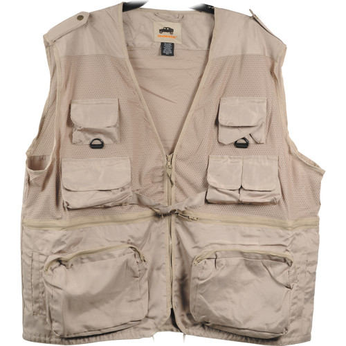 Humvee by CampCo Combat Photo Vest, XX-Large (Khaki)